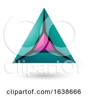 Green And Magenta Triangle Design