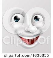 Poster, Art Print Of Happy Cartoon Emoticon Face