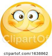 Poster, Art Print Of Happy Female Yellow Emoji Smiley Face