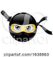 Poster, Art Print Of Yellow Emoji Smiley Ninja