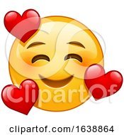 Poster, Art Print Of Yellow Emoji Smiley Face In Love