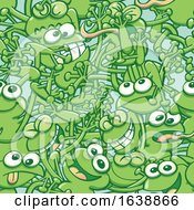 Pattern Of Green Tangled Frogs