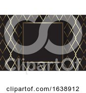 Business Card With An Elegant Gold And Black Pattern Design