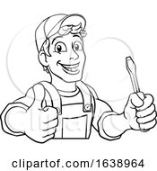 Electrician Cartoon Handyman Plumber Mechanic
