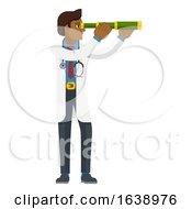 Telescope Spyglass Doctor Concept