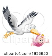 Stork Cartoon Pregnancy Myth Bird With Baby
