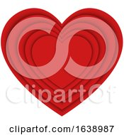 Layered Red Love Heart