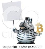 3d Zebra On A White Background by Julos