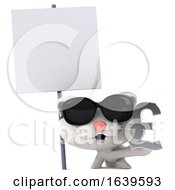 3d White Cat On A White Background