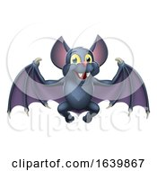 Cute Bat Halloween Vampire Animal Cartoon by AtStockIllustration