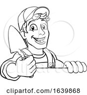 Trowel Construction Site Cartoon Builder Handyman by AtStockIllustration