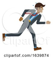 Business Man Stress Pressure Tired Running Concept