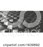 Poster, Art Print Of 3d Geometric Abstract Hexagonal Wallpaper Background