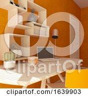 Poster, Art Print Of 3d Render Of A Modern Home Office