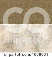 Poster, Art Print Of Grunge Torn Paper On A Linen Texture