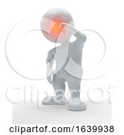 3D Figure Holding The Front Of His Head In Pain