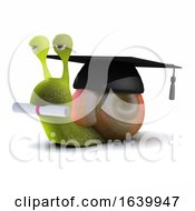 Poster, Art Print Of 3d Graduate Snail