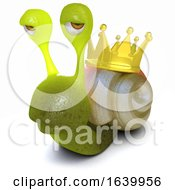 3d Funny Cartoon Snail With A Gold Crown On Its Shell by Steve Young