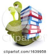 3d Funny Cartoon Snail Bug Carrying Document Folders
