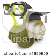 3d Funny Cartoon Snail Bug Wearing Graduates Cap And Glasses by Steve Young