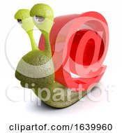 3d Funny Cartoon Snail With An Internet Email Address Symbol by Steve Young