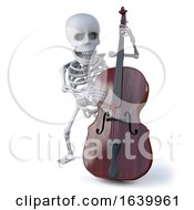 3d Skeleton Plays Doube Bass by Steve Young
