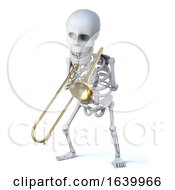 3d Skeleton Trombonist by Steve Young