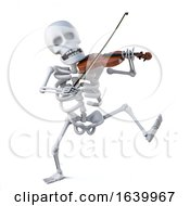 3d Skeleton Dancing And Playing A Violin by Steve Young