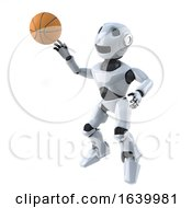 3d Robot Plays Basketball
