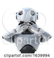 3d Robot Speaks No Evil