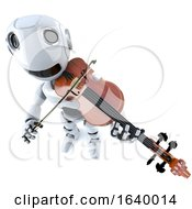3d Funny Cartoon Robot Character Playing A Violin by Steve Young