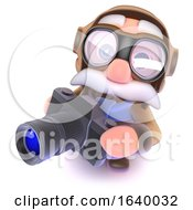 3d Funny Cartoon Airline Pilot Character Holding A Camera