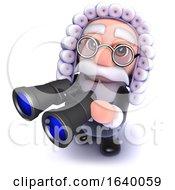 3d Judge Holding A Pair Of Binoculars