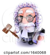 3d Judge Holding A Gavel And Law Book