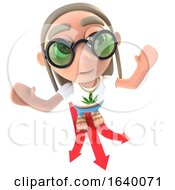 3d Stoner Hippy Character Deciding Which Direction To Take