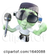 3d Frankenstein Monster Singing Into A Microphone