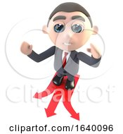3d Executive Businessman Character Choosing Which Direction To Travel