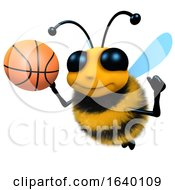 3d Honey Bee Character Playing Basketball by Steve Young