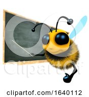 3d Honey Bee Character Is Teaching At The Blackboard by Steve Young