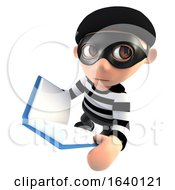 3d Burglar Thief Reading A Book