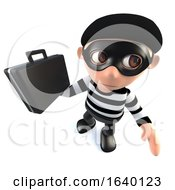 3d Burglar Thief Stealing A Briefcase