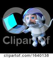 3d Astronaut With Laptop