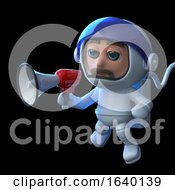3d Astronaut Using A Megaphone In Space