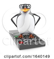 3d Academic Penguin Standing On A Calculator by Steve Young