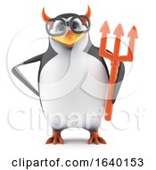 3d Academic Penguin Dressed As The Devil by Steve Young