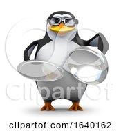 3d Penguin Silver Service