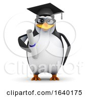 3d Graduating Penguin by Steve Young