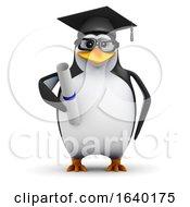 3d Graduating Penguin