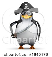 3d Penguin Student Pirate