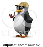 3d Sherlock Penguin Crime Fighter